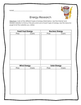 Energy Research Template