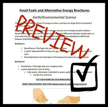 Energy Resource Brochures