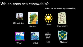 Energy Resources - Renewable and non-renewable electrical generation