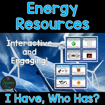 Energy Resources Activity - I Have, Who Has?