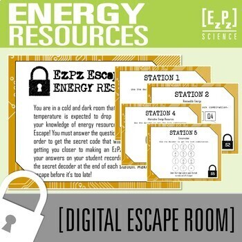 Energy Resources Science Escape Room