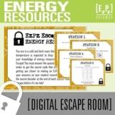 Energy Resources Science Escape Room