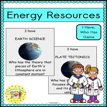 Energy Resources I Have, Who Has Game