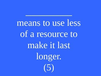 Energy Resources Jeopardy