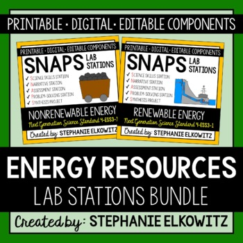 Energy Resources Lab Stations Bundle