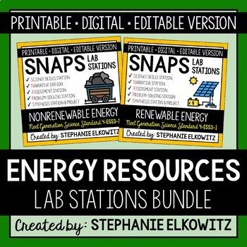 Energy Resources Lab Stations Bundle