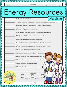 Energy Resources Matching