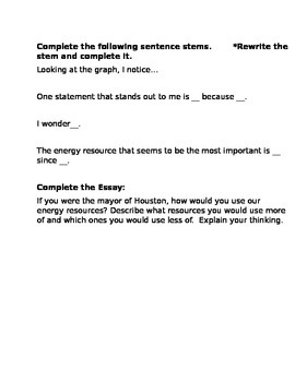 Energy Resources- Non-Renewable / Renewable Statement Cards
