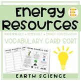 Energy Resources: Nonrenewable, Renewable, & Energy Use Vo