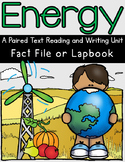 Energy Resources Paired Text Lapbook & The Boy Who Harnessed the Wind with STEM
