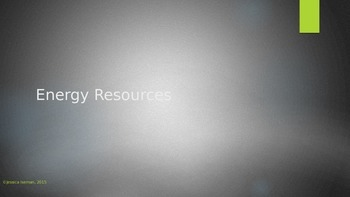 Energy Resources PowerPoint