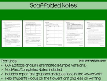 Energy Resources PowerPoint, Notes & Exam (Differentiated and Editable)