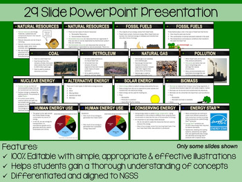 Energy Resources PowerPoint, Notes & Exam
