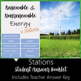 Energy Resources Stations- Renewable and Nonrenewable