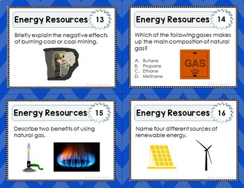 Energy Resources Task Cards - Distance Learning Compatible