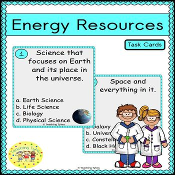 Energy Resources Task Cards