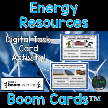 Energy Resources Task Cards - Digital Boom Cards™