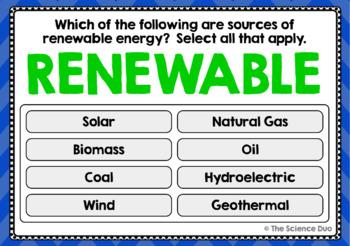 Energy Resources Task Cards - Digital Boom Cards™