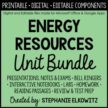 Energy Resources Unit Bundle
