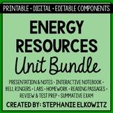 Energy Resources Unit Bundle