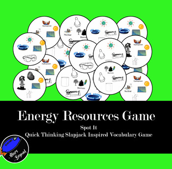 Energy Resources Vocab - Spot it Card Game