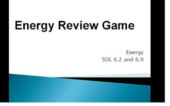 Energy Review Game and Study Guide