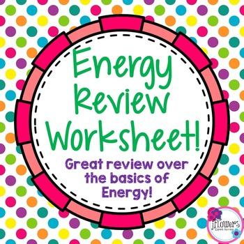 Energy Review Worksheet
