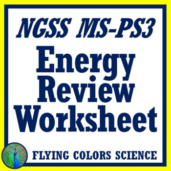 Energy Review Worksheet - Kinetic & Potential Energy, Forms ...