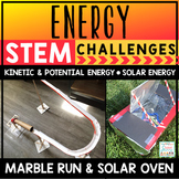 Energy STEM Challenges Activities Marble Run Kinetic Potential Energy Solar Oven
