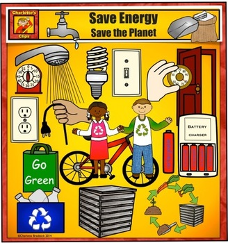 Earth Day Clip art - Energy Saving Everyday by Charlotte's Clips