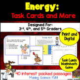 Energy Science Task Cards and More