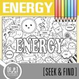 Energy Seek & Find Doodle Page