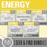 Energy Seek and Find Science Doodle Pages Bundle