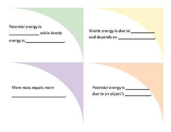 Energy Sentence Stems for ELLs