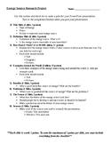 Energy Source Research Project Outline and Checklist
