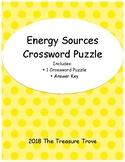 Energy Sources Crossword Puzzle