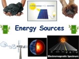 Energy Sources Lesson & Flashcards- task cards, study guide, state exam prep