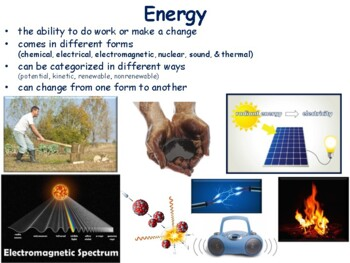 Energy Sources Lesson - classroom unit, study guide, state exam prep