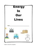 Energy in our Lives test / assessments / rubric - Ontario