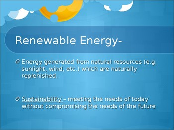 Energy Sources: Renewable and Nonrenewable WITH Activity