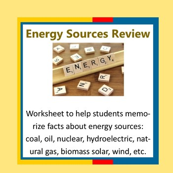 Energy Sources Review