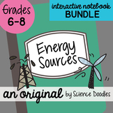 Energy Sources Science Notebook Doodle BUNDLE - Science Notes