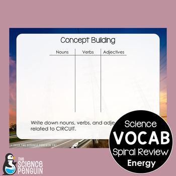 Energy Spiral Vocabulary Review