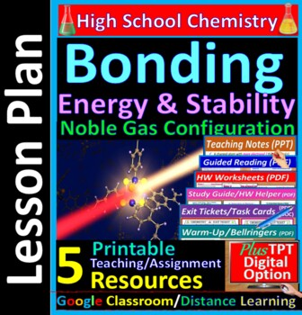 Energy & Stability of Bonds -  Worksheets & Practice Questions for HS Chemistry