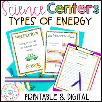 Energy Science Centers (Mechanical, Heat, Sound, Light, and Electrical)