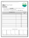 Energy Student Tracker with self reflection and accountability on the back