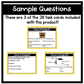 Energy Task Cards 5th Grade