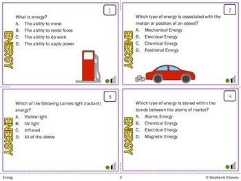Energy Task Cards (Differentiated and Tiered)