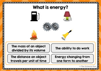 Energy Task Cards - Digital Boom Cards™