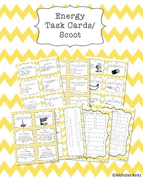 Energy Task Cards/Scoot